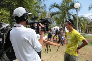 前日エントリーの際に、他の日本人ランナーへもインタビュー