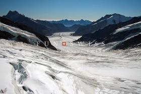 ユングフラウヨッホからのアレッチ氷河2