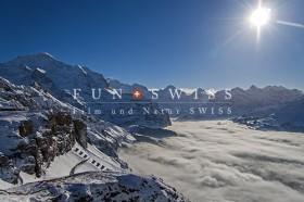 冬のメンリッヒェンからの雲海