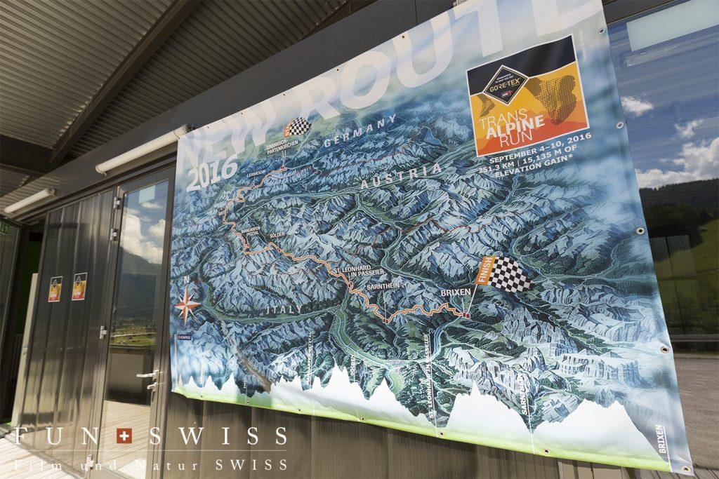 レースの全容を記した地図。上がドイツ、中心がオーストリア、下がイタリア。