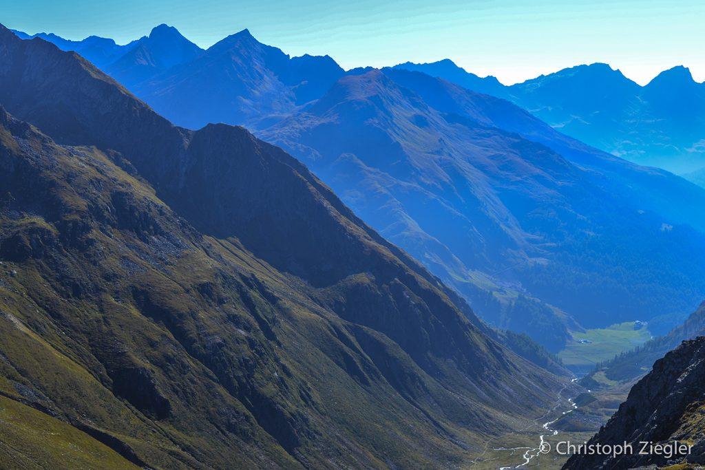 チロリアンアルプスの素晴らしい眺め