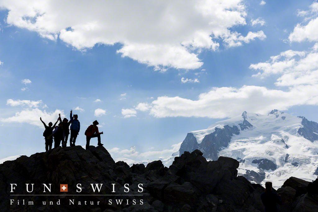 スイス最高峰のモンテローザも目の前です!