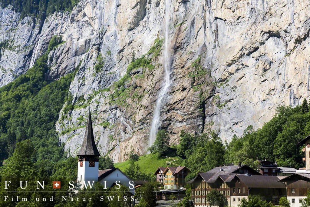 ラウターブルンネンのシュタウプバッハの滝