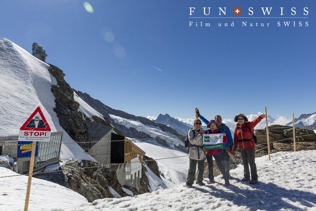 標高3,454mのユングフラウヨッホ