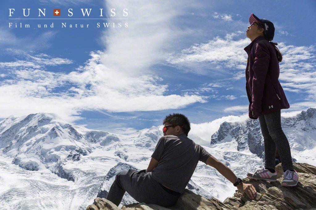 スイス最高峰のモンテローザからゴルナー氷河まで一望