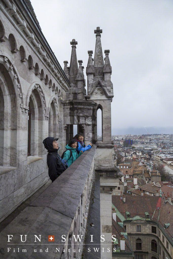 サンピエール大聖堂の上まで螺旋階段を上って、、、