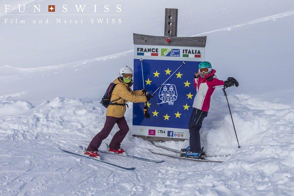 イタリア&フランス国境をスキーで超える!