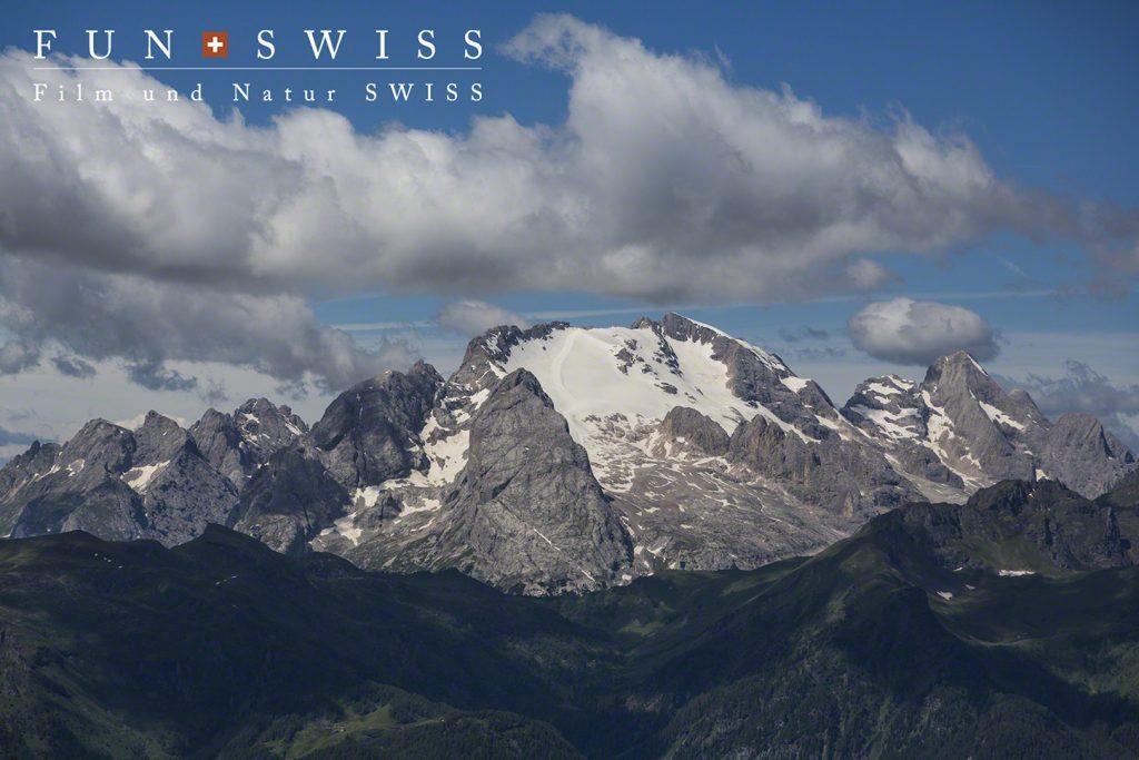 ドロミテ最高峰のマルモラーダ3,343m