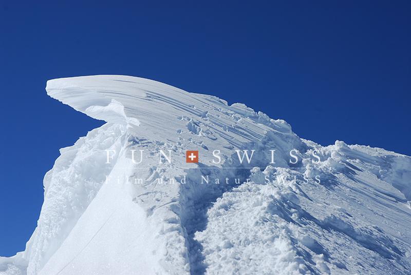 メンヒの雪庇