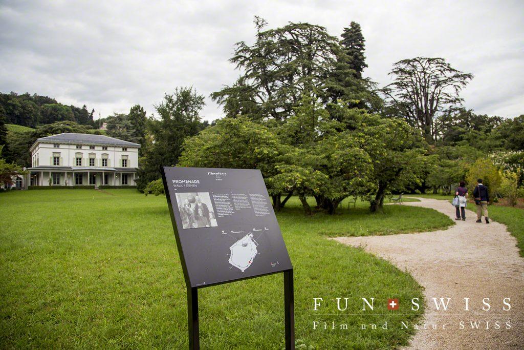 チャップリン家族が過ごした家と広大な敷地を散策