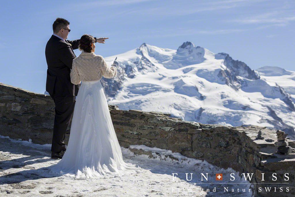 スイス最高峰のモンテローザ4,634mが目の前に。