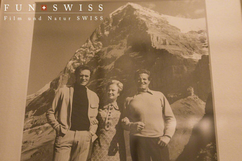 映画『アイガーザンクション』で撮影舞台となり俳優クリントイーストウッド氏が滞在した写真が、今でも飾られています。