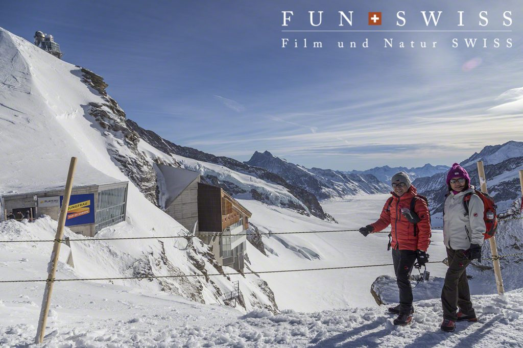 標高3,571mの展望台まであがり、アレッチ氷河も綺麗に見えました!!!