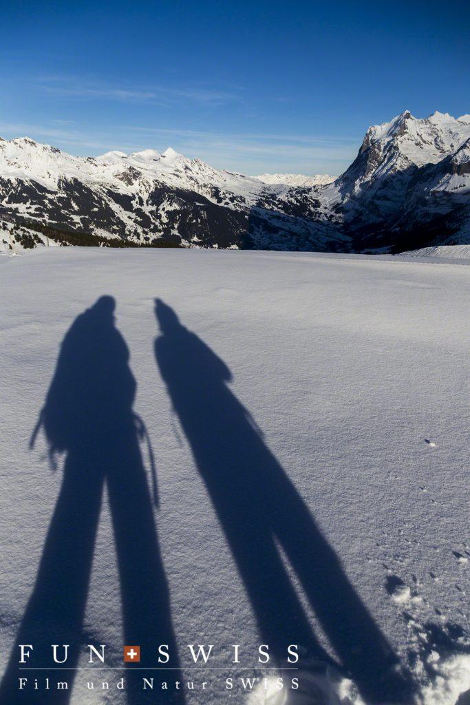 新雪を歩き回りました~♪