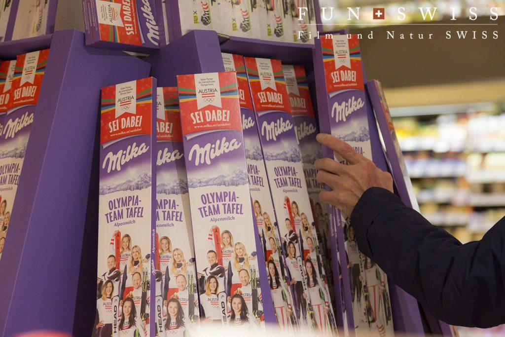 さすが、オーストリア。ミルカ製品が多種にそろいます。