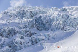 ラーケン氷河のセラック帯