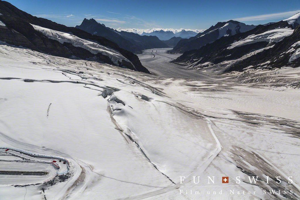 ユングフラウヨッホから見るアレッチ氷河