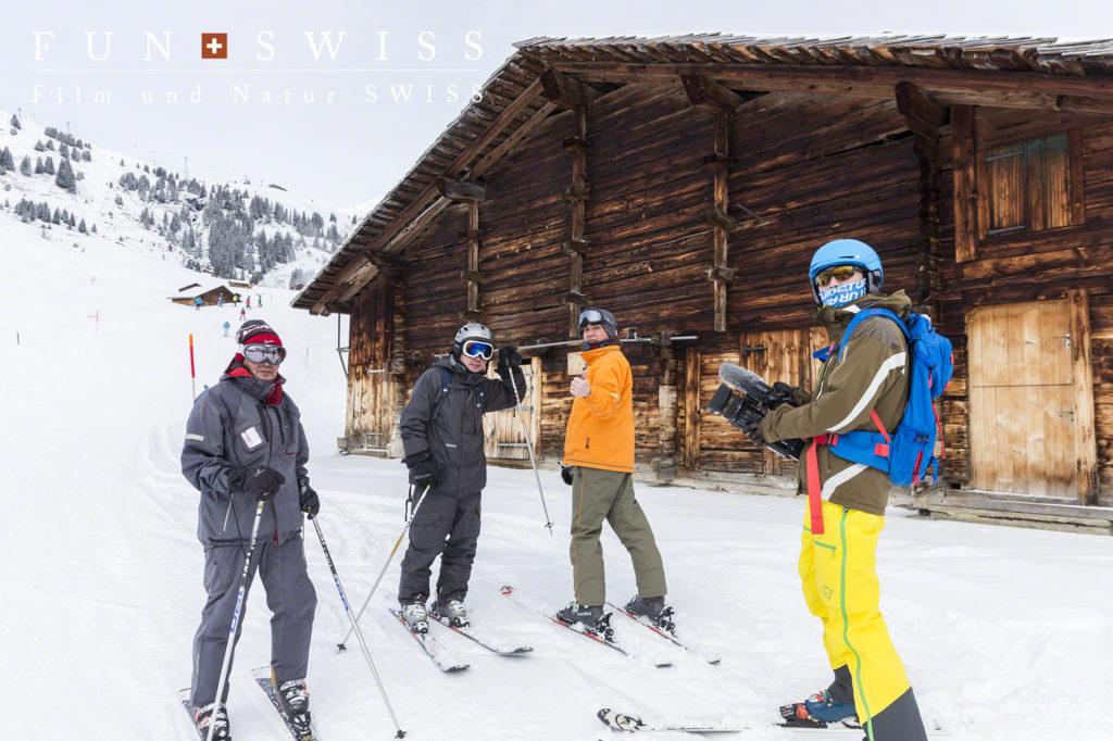 お父さんの『海外でスキーするなら、スイス!』という希望に応えて、息子さん二人と