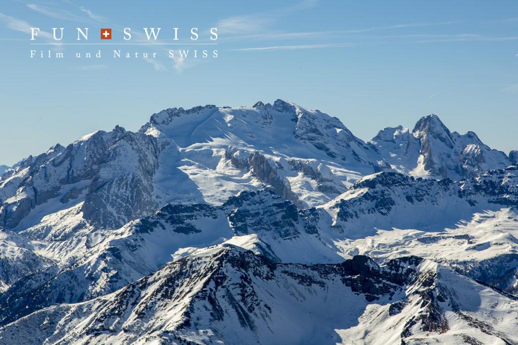 ドロミテ最高峰、マルモラーダ(3,343m)