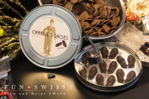 限定チャップリン靴チョコレート