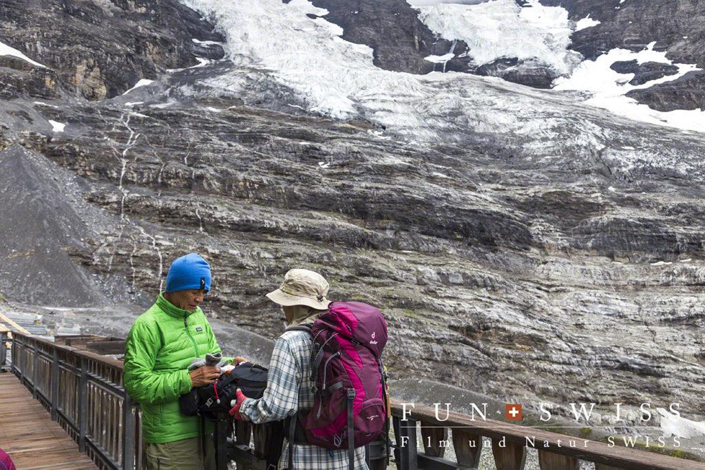 アイガー氷河の末端
