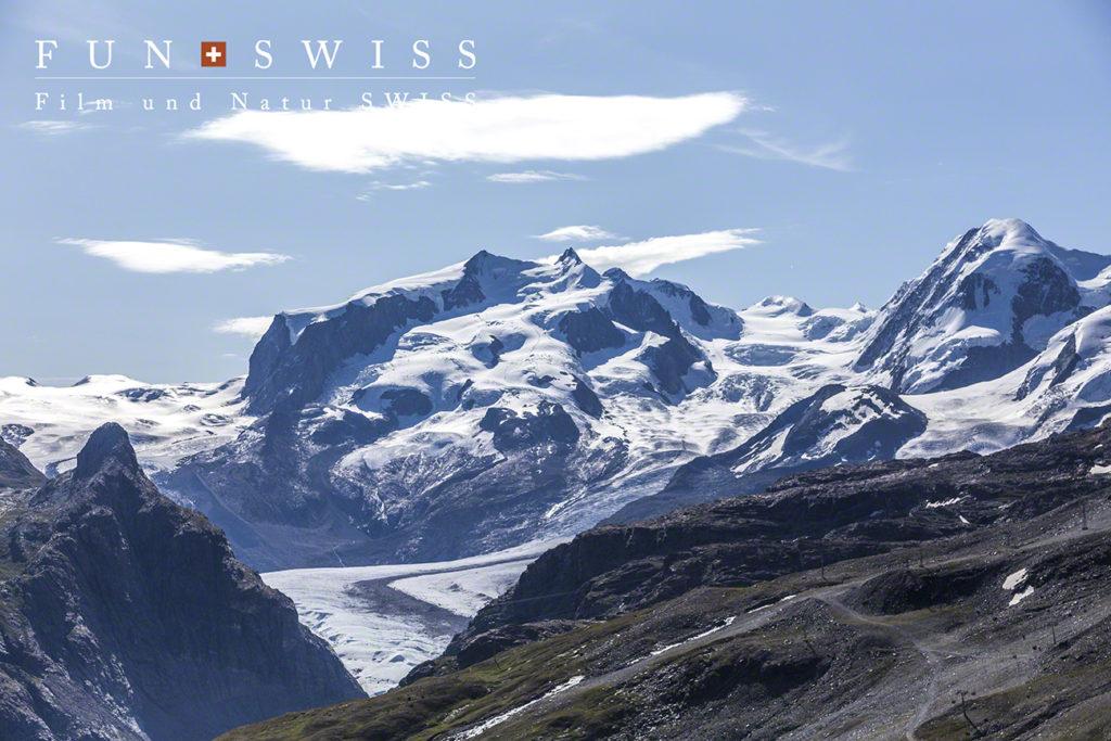 スイス最高峰のモンテローザ4,634m
