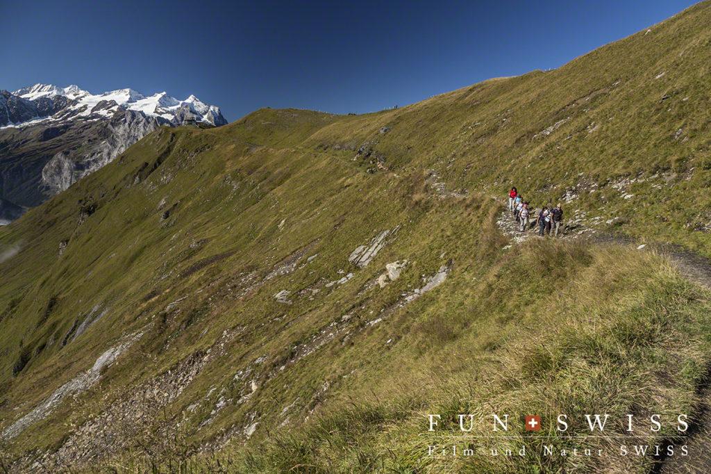 ヴェッターホルンを背にして山の稜線歩き~