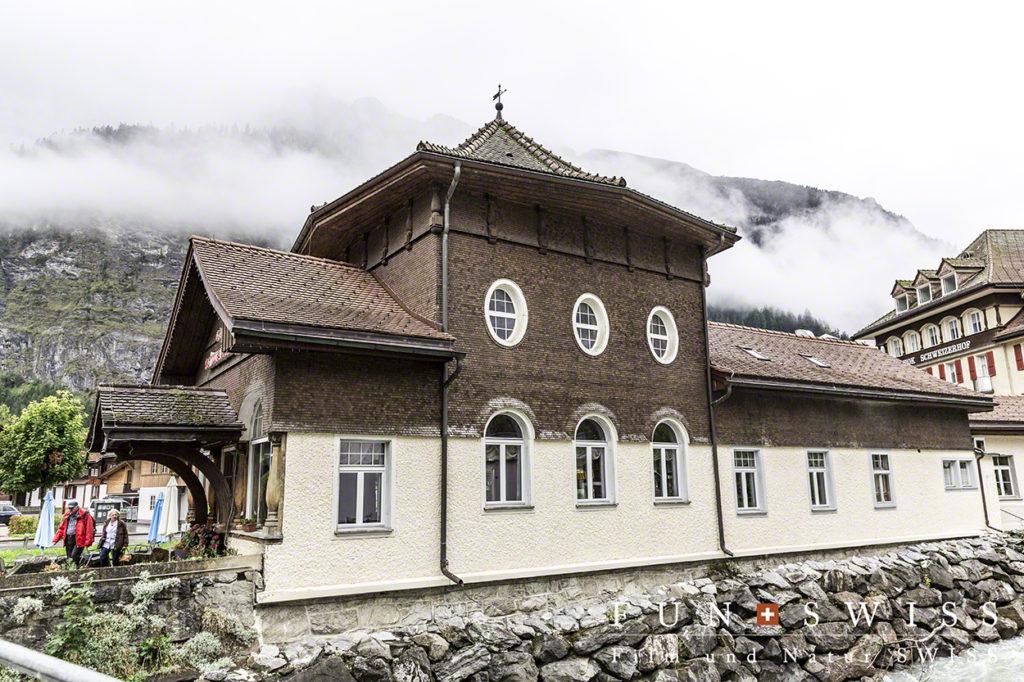 水辺に多い外壁を持つ伝統的な建物