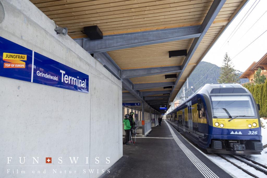新設グリンデルワルト ターミナル駅