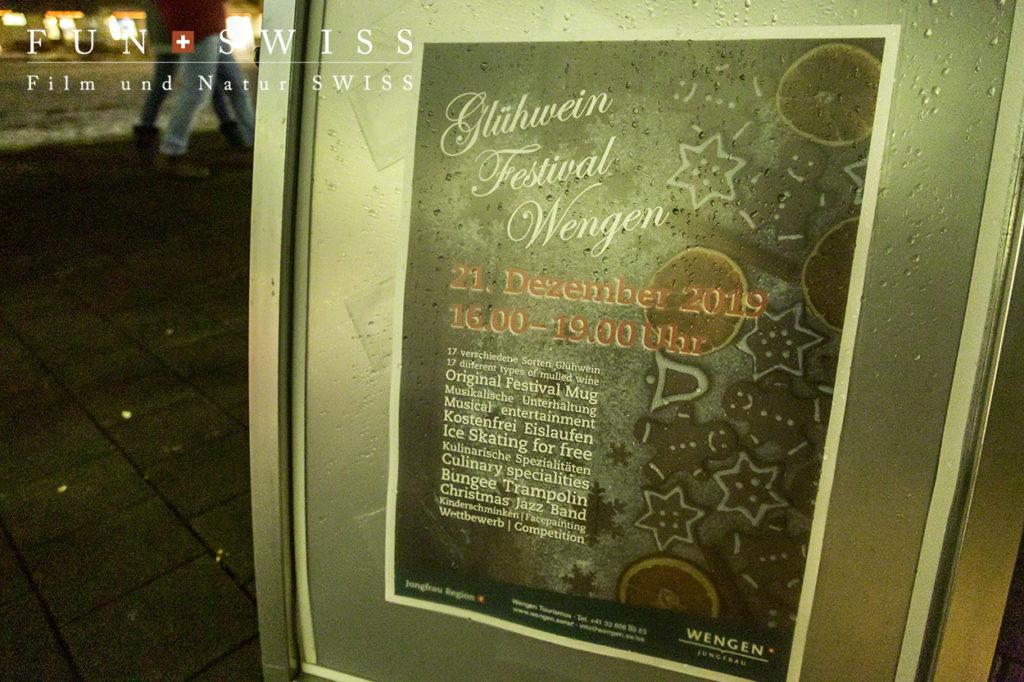ウェンゲン観光局主催のホットワイン祭り