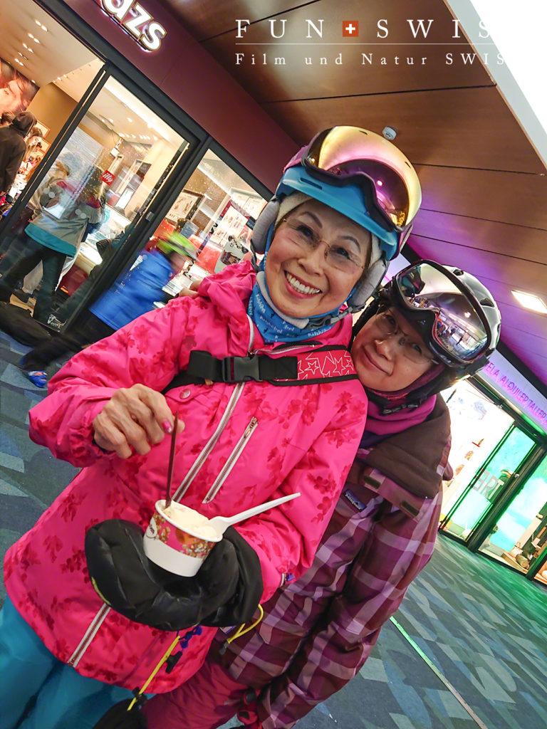 雪の季節もやっぱりおいしいアイスクリーム♪