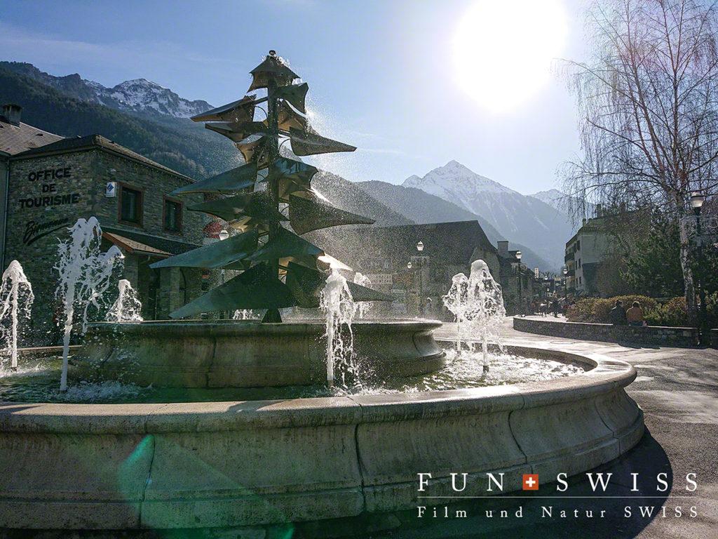 街の中心の噴水
