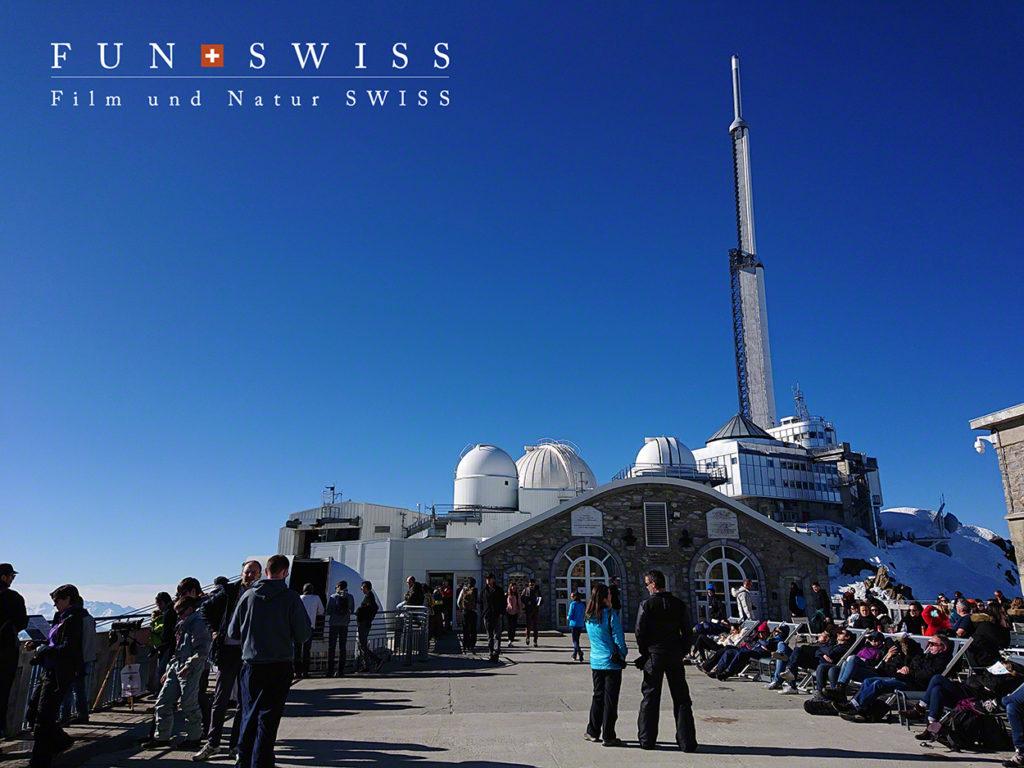 天文台があるピック・デュ・ミディ・ド・ビゴール展望台
